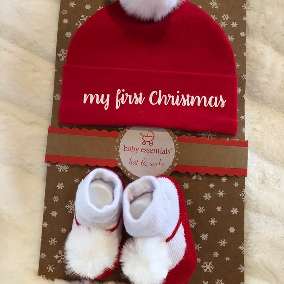 My first Christmas hat and socks b328cde04f0
